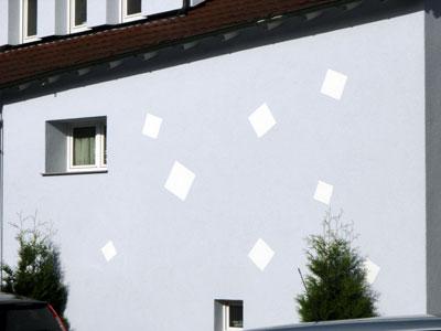 Stuckateur Pfitzenmaier - Fassadensanierung - Putzgestaltung Detailansicht