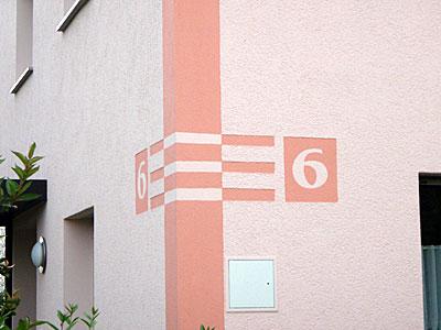 Stuckateur Pfitzenmaier - Hausnummerngestaltung 02