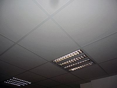 Stuckateur Pfitzenmaier - Schallisolierende Deckenplatten mit Beleuchtungsbaustein